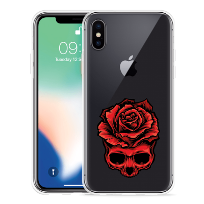 Apple iPhone X Hoesje Red Skull