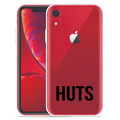 Apple iPhone Xr Hoesje Huts zwart