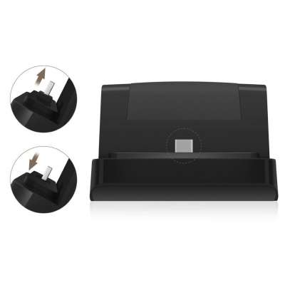 Docking station met USB-C aansluiting voor de Microsoft Surface Go - black
