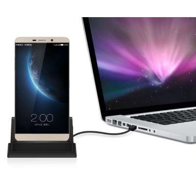 Docking station met USB-C aansluiting voor de Motorola Moto G9 Play - black