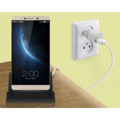 Docking station met USB-C aansluiting voor de Motorola Moto G6 Plus - black