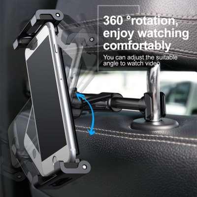 Baseus Universele Smartphone/Tablet 4.7-12.9 inch Hoofdsteunhouder - Zwart