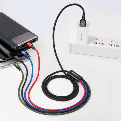 Baseus Rapid Series 4 in 1 Kabel - 2x Lightning 1x USB-C 1x Micro USB