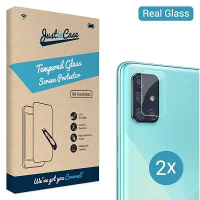 Just in Case Tempered Glass Samsung Galaxy A71 Camera Lens - 2 stuks