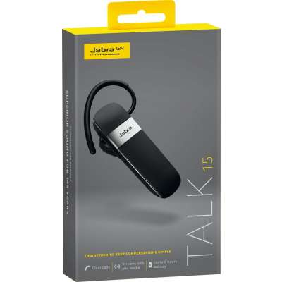 Jabra Talk 15 Bluetooth Headset - zwart