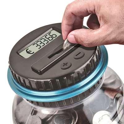Digitale Spaarpot Met Munten Teller - geschikt voor EURO munten (1.8L) KadoTIP