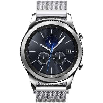 Just in Case Milanees armband voor Samsung Gear S3 Frontier / S3 Classic - Zilver