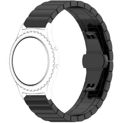 Just in Case Chain Metalen Watchband voor Samsung Gear Sport - Zwart