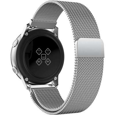 Just in Case Samsung Galaxy Watch Active Milanees armband - Zilver