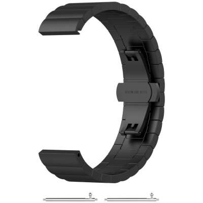 Just in Case Chain Metalen Watchband voor Samsung Galaxy Watch Active - Zwart