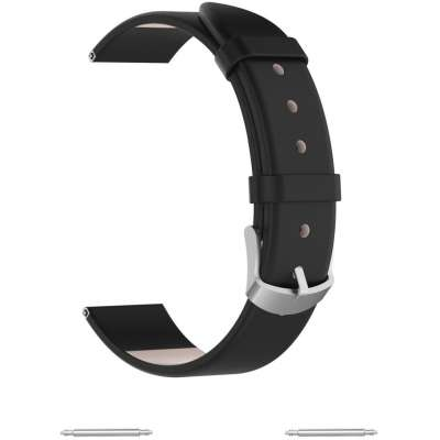 Just in Case Samsung Galaxy Watch Active PU Lederen armband - Zwart