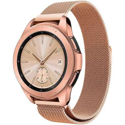 Just in Case Milanees armband voor Samsung Galaxy Watch 42mm - Rose Gold