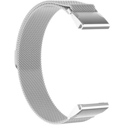 Just in Case Garmin Fenix 5 / Fenix 5 Plus Milanees armband - Zilver
