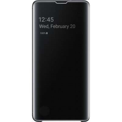 Samsung Galaxy S10 Clear View Cover Zwart