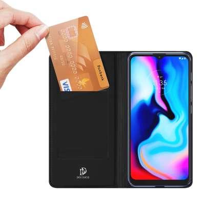 DUX DUCIS Motorola Moto G9 Play / Moto E7 Plus TPU Wallet Case - Zwart