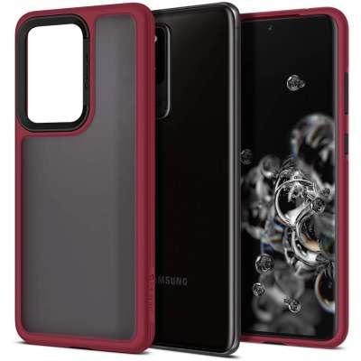 Spigen Cyrill Color Brick Samsung Galaxy S20 Ultra hoesje - Burgundy
