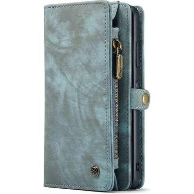 CASEME Samsung Galaxy S21 Ultra Luxe Leren Portemonnee Hoesje Blauw