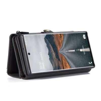 CASEME Samsung Galaxy S21 Ultra Luxe Multi Portemonnee Hoesje Zwart
