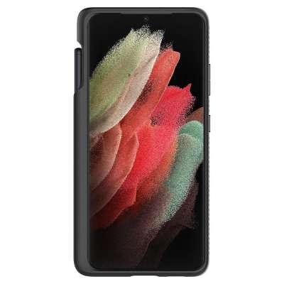 Samsung Galaxy S21 Ultra Hoesje Spigen Liquid Air Pen - Zwart