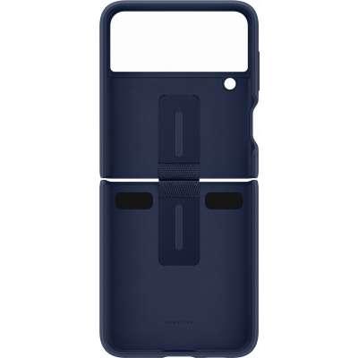 Samsung Galaxy Z Flip 3 Hoesje - Samsung Silicone Cover met Ring - Navy