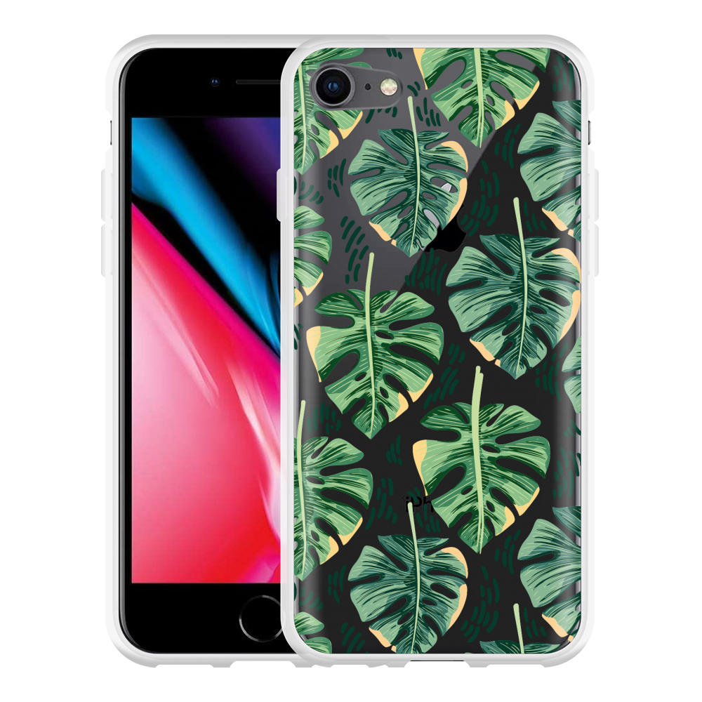 iPhone 8 Hoesje Palm Leaves Large