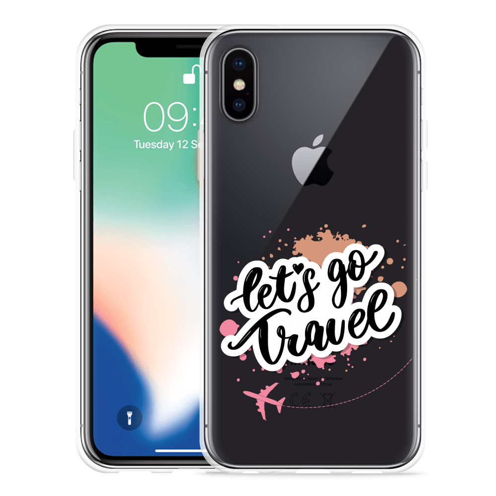 Apple iPhone X Hoesje Go Travel The World