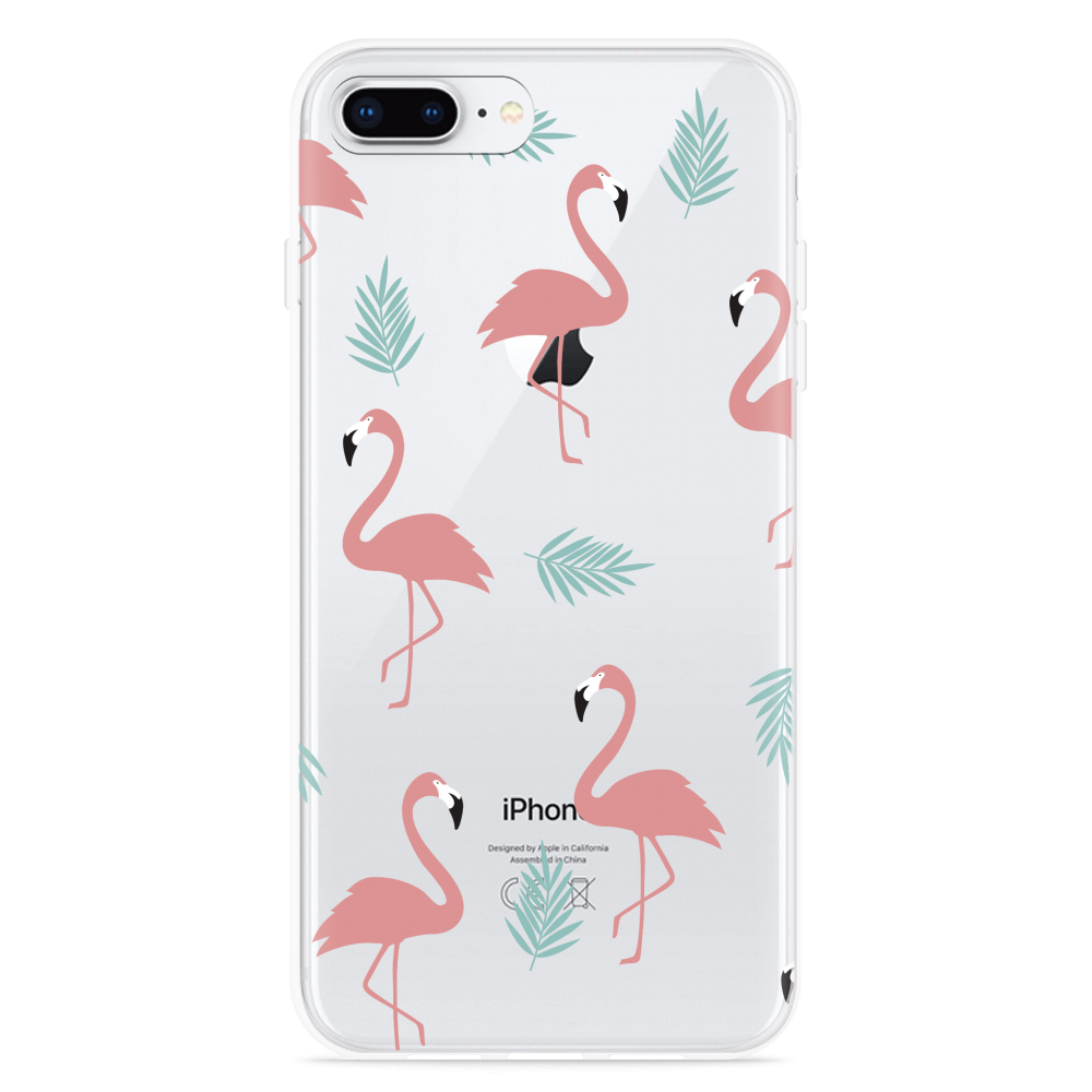 iPhone 8 Plus Hoesje Flamingo Pattern