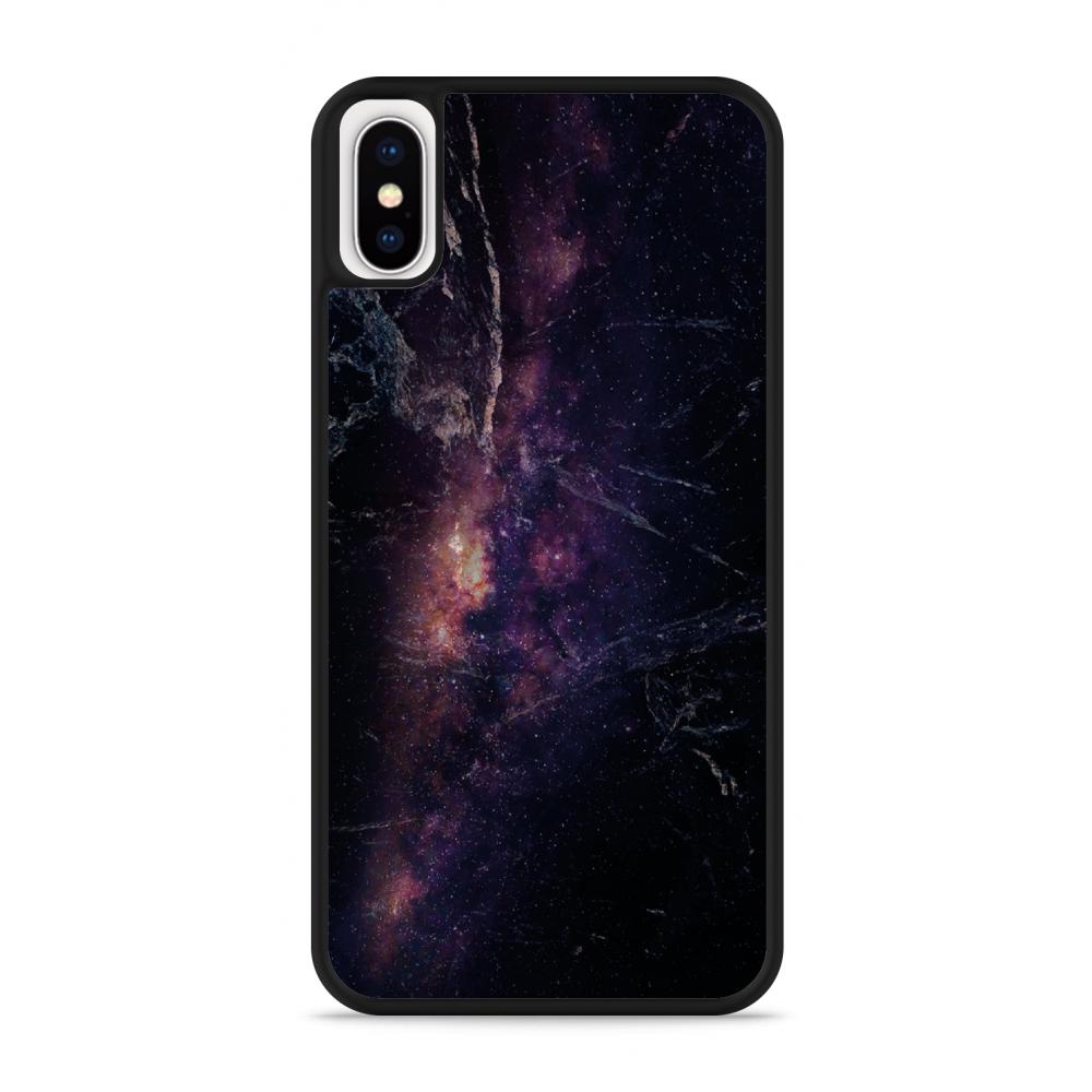 iPhone X Hardcase hoesje Black Space Marble