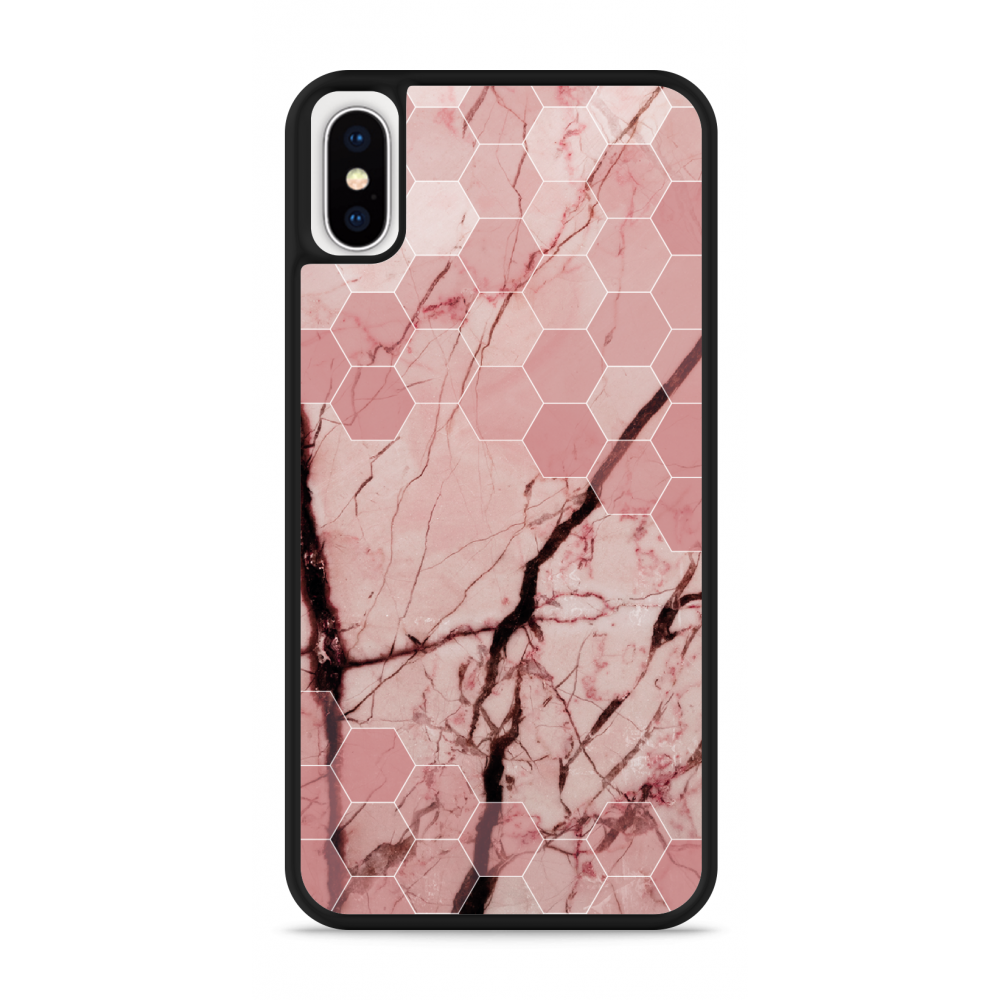 iPhone X Hardcase hoesje Pink Marble