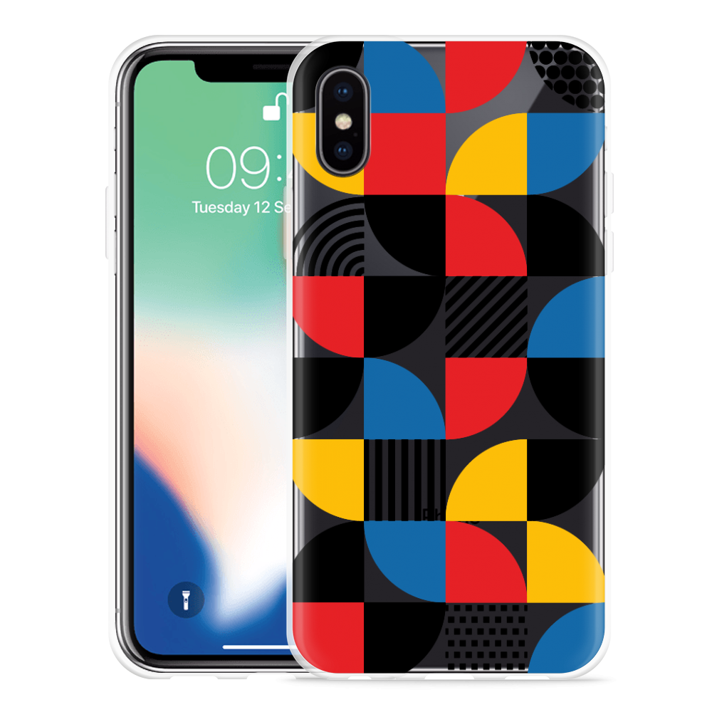 Apple iPhone Xs Hoesje Abstract Pattern