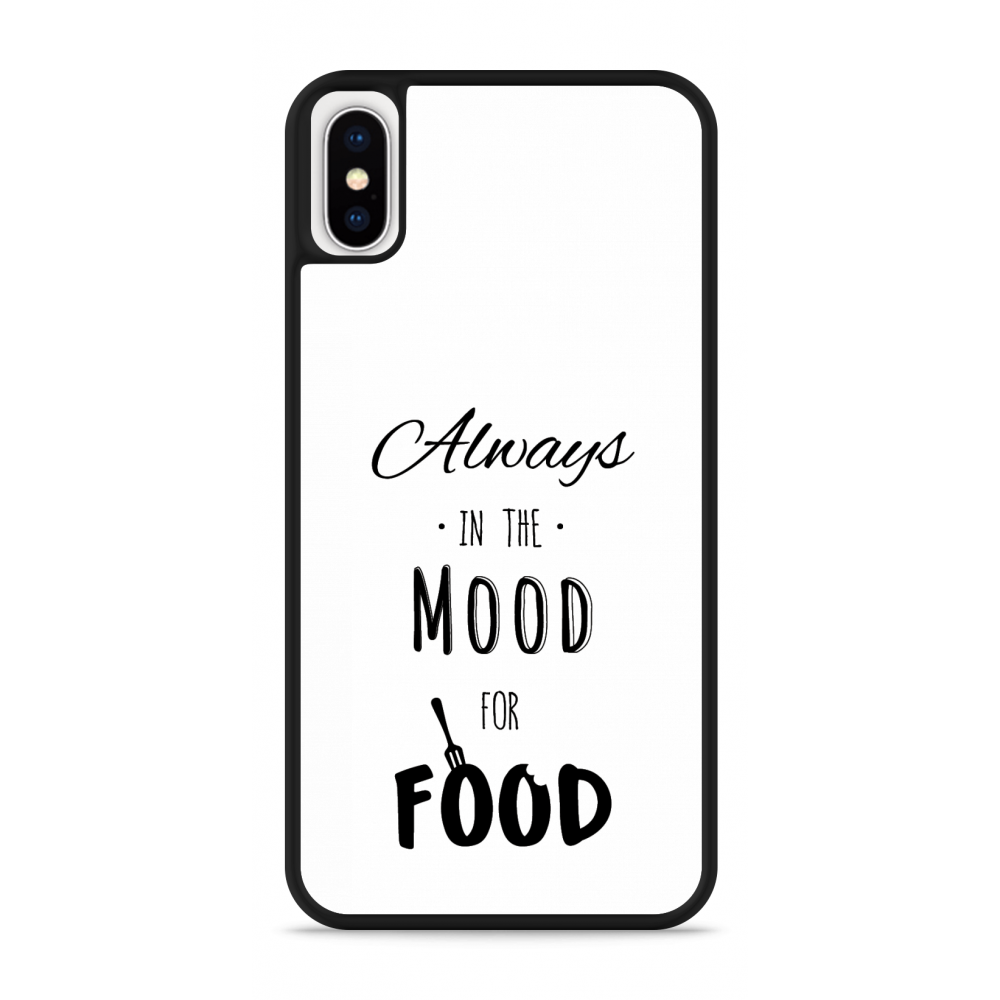iPhone X Hardcase hoesje Mood for Food Black