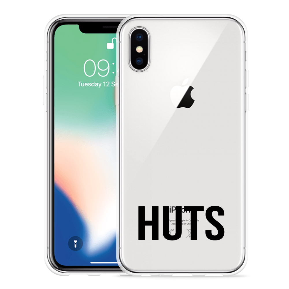 Apple iPhone Xs Hoesje Huts zwart