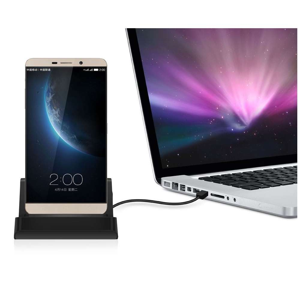 Docking station met USB-C aansluiting voor de Blackberry KEY2 LE - black
