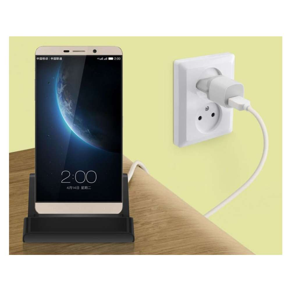 Docking station met USB-C aansluiting voor de Xiaomi Redmi Note 9 Pro - black