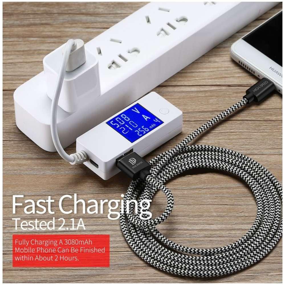 Dux Ducis USB-C Kabel - 25cm - Zwart