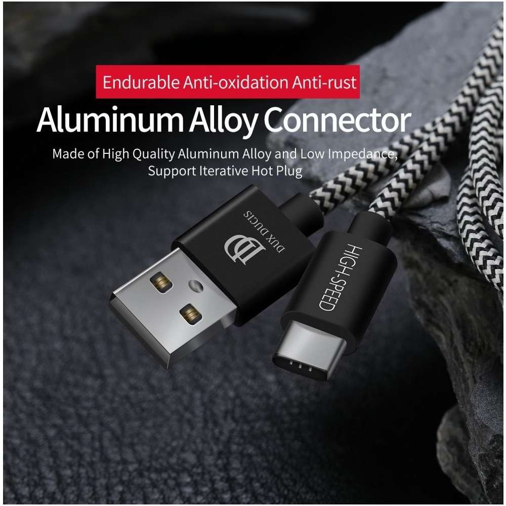 Dux Ducis USB-C Kabel - 100cm - Zwart