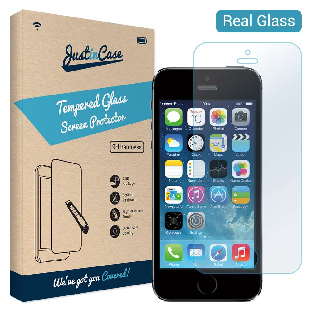 Just in Case Apple iPhone 5C Tempered Glass Protector - Arc Edge