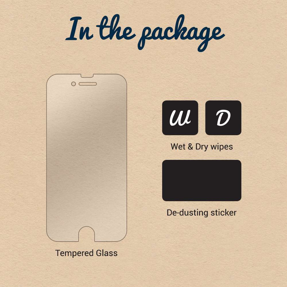Just in Case Apple iPhone 5 / 5S / SE Tempered Glass Protector - Arc Edge