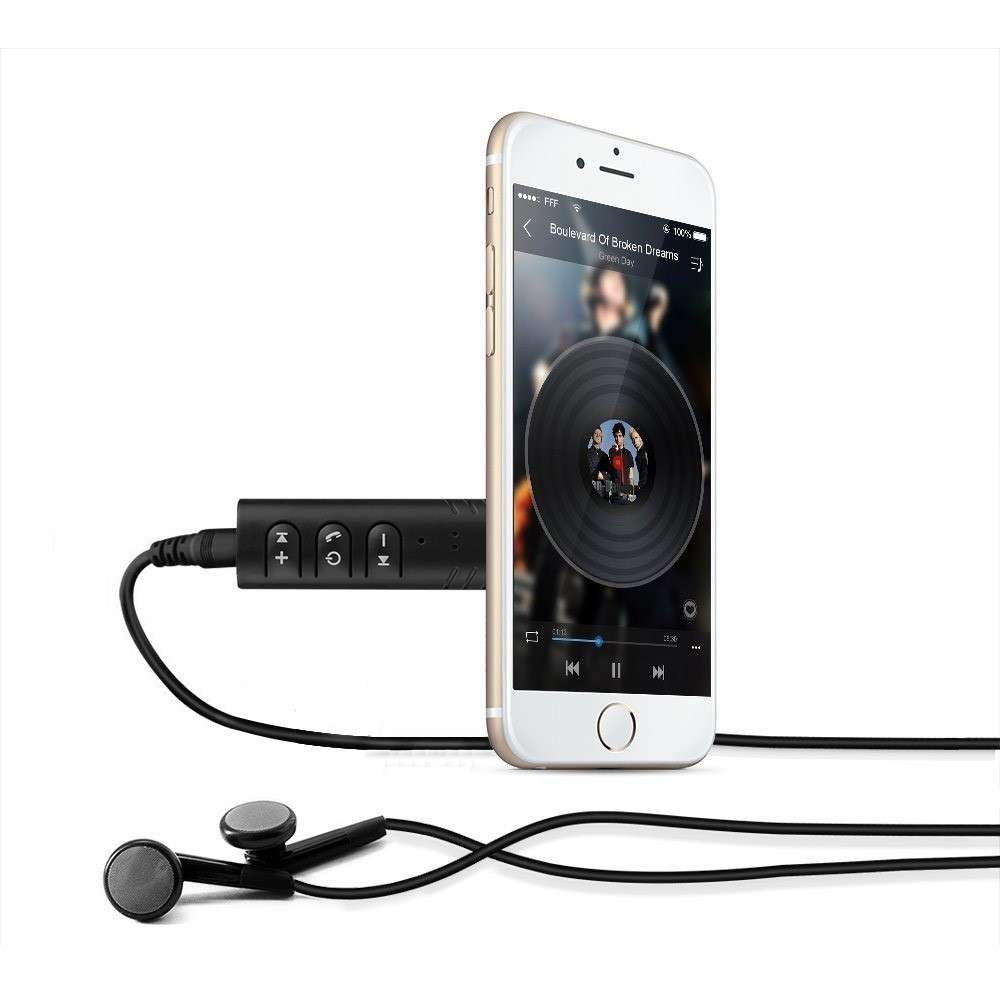 Bluetooth Music Receiver 3.5mm - Zwart