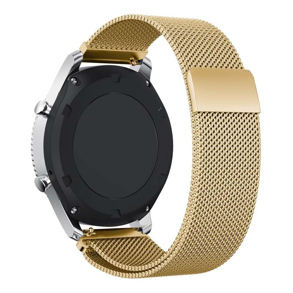 Just in Case Milanees armband voor Samsung Gear S3 Frontier / S3 Classic - Gold