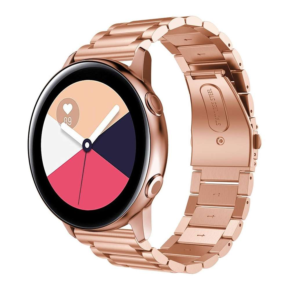 Just in Case Metalen armband voor Samsung Galaxy Watch Active - Rose Goud