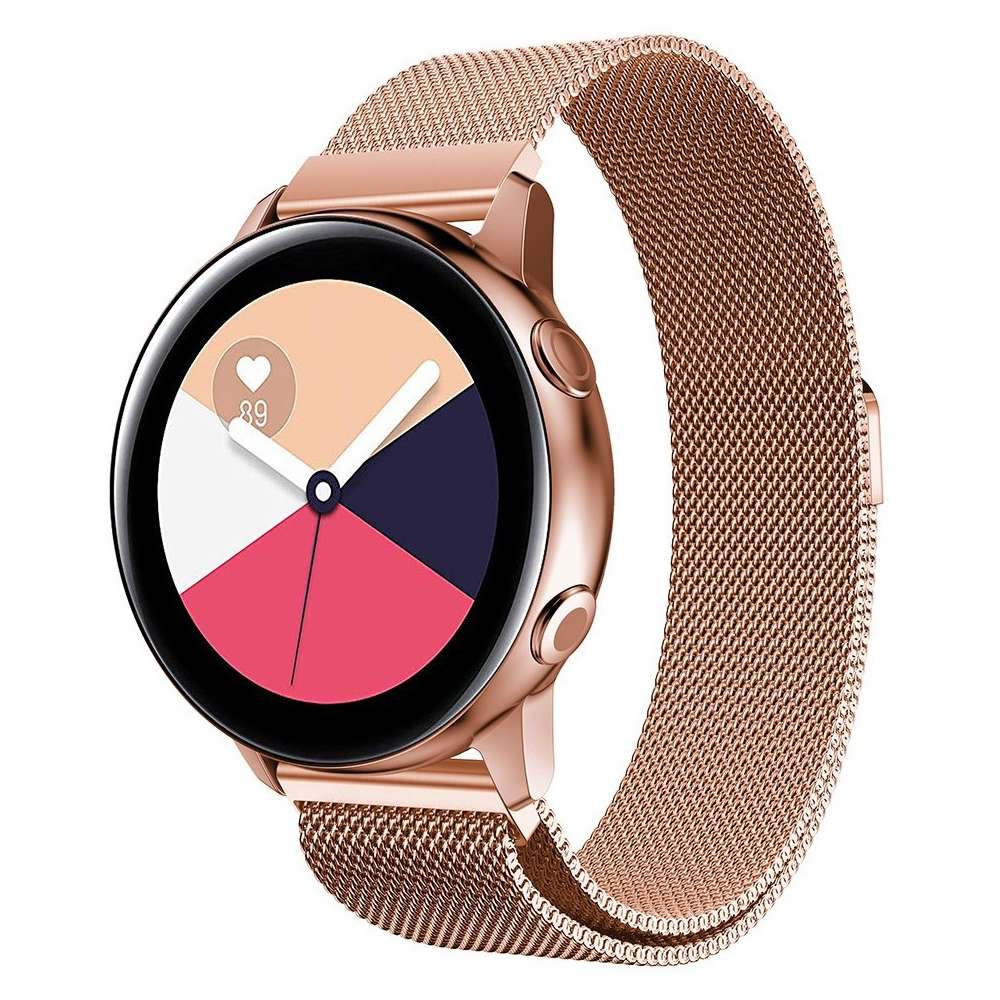 Just in Case Samsung Galaxy Watch Active Milanees armband - Rose Goud