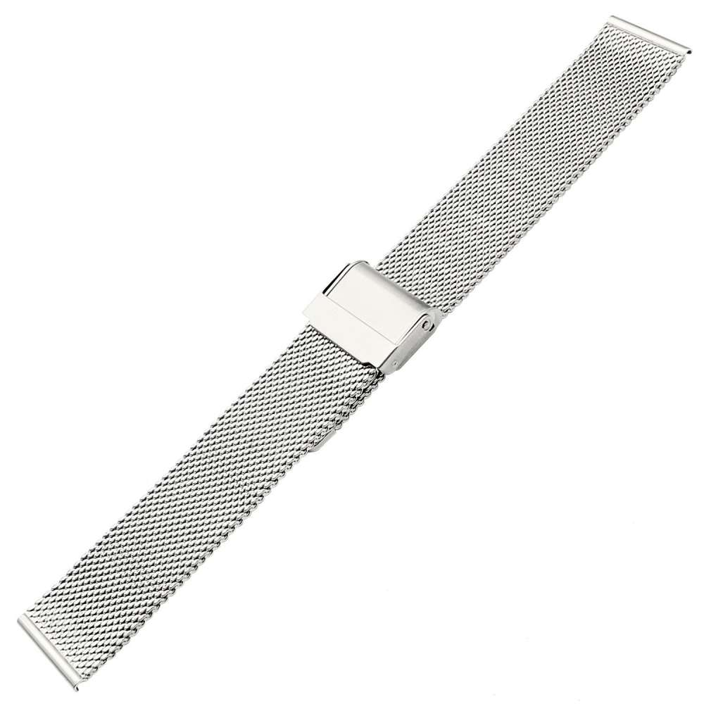 Just in Case Milanees armband voor Samsung Galaxy Watch Active - Zilver