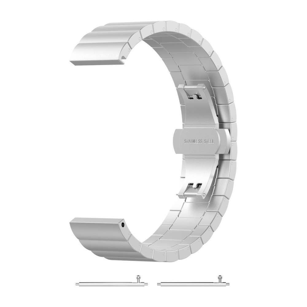 Just in Case Chain Metalen Watchband voor Samsung Galaxy Watch Active - Zilver