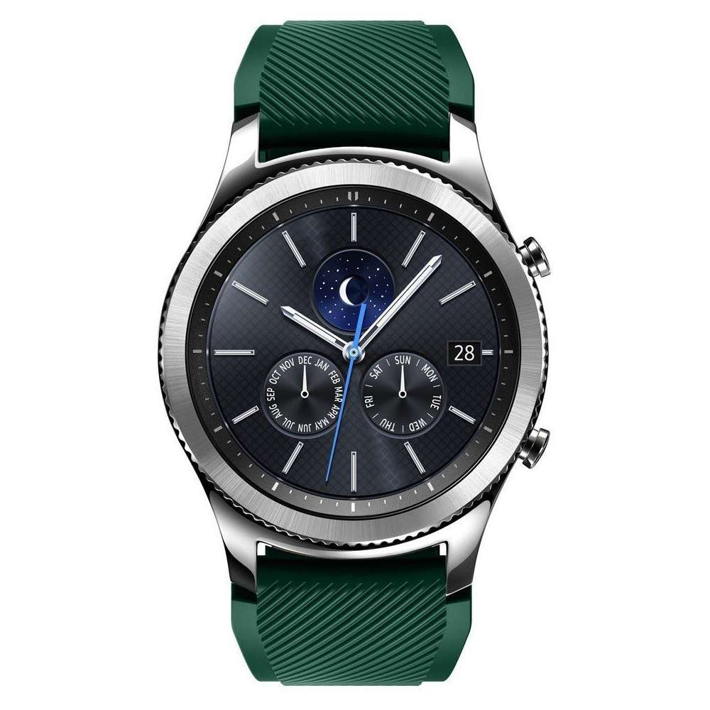 Just in Case Sport armband voor Samsung Gear S3 Classic / Frontier - donker groen