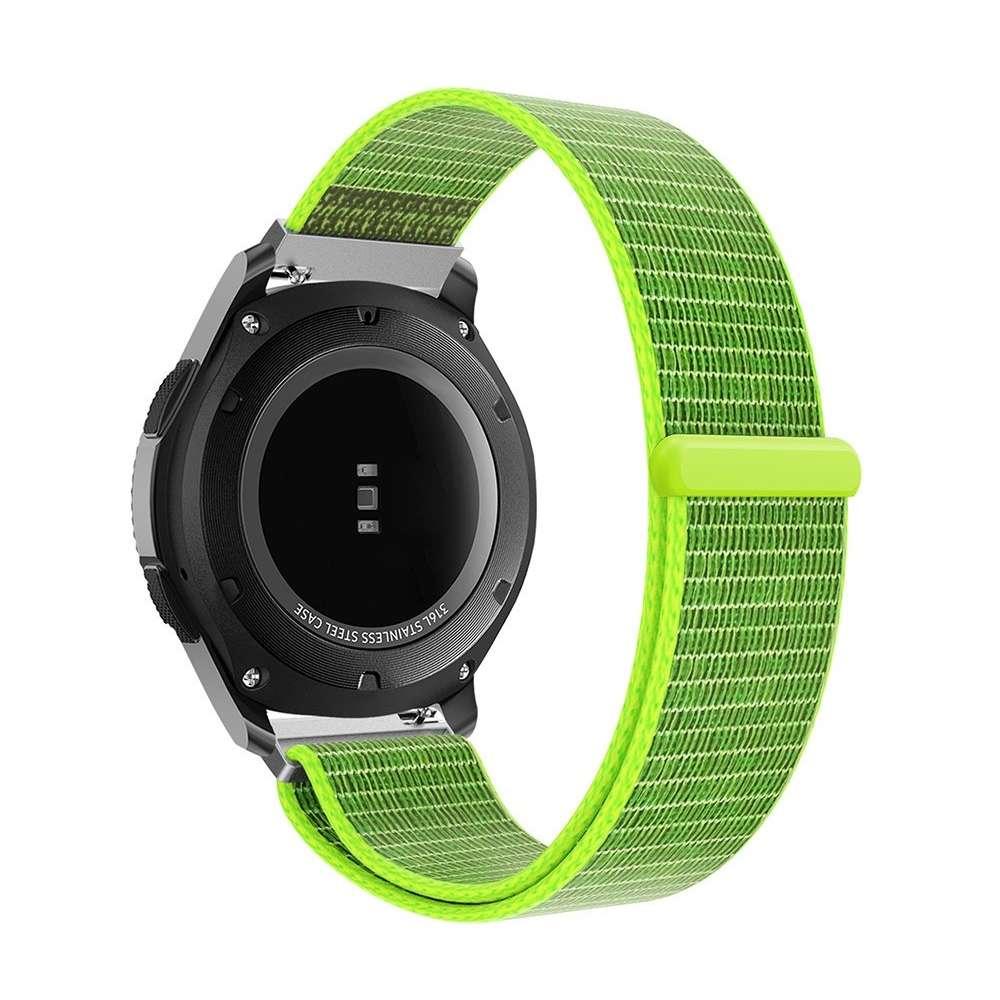 Just in Case Nylon Armbandje met Klittenbandsluiting Samsung Gear S3 - Groen