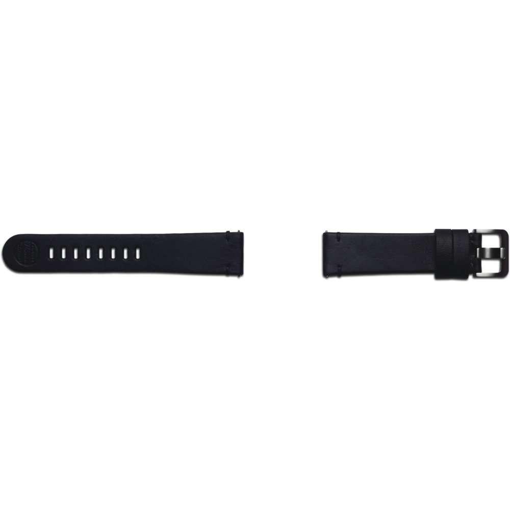 Samsung Galaxy Watch 46mm Essex Leren Band 22mm - Zwart