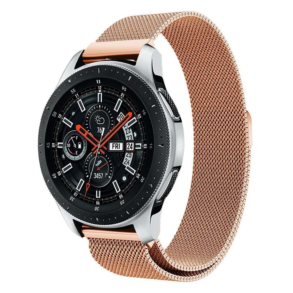 Just in Case Milanees armband voor Samsung Galaxy Watch 46mm - Rose Gold