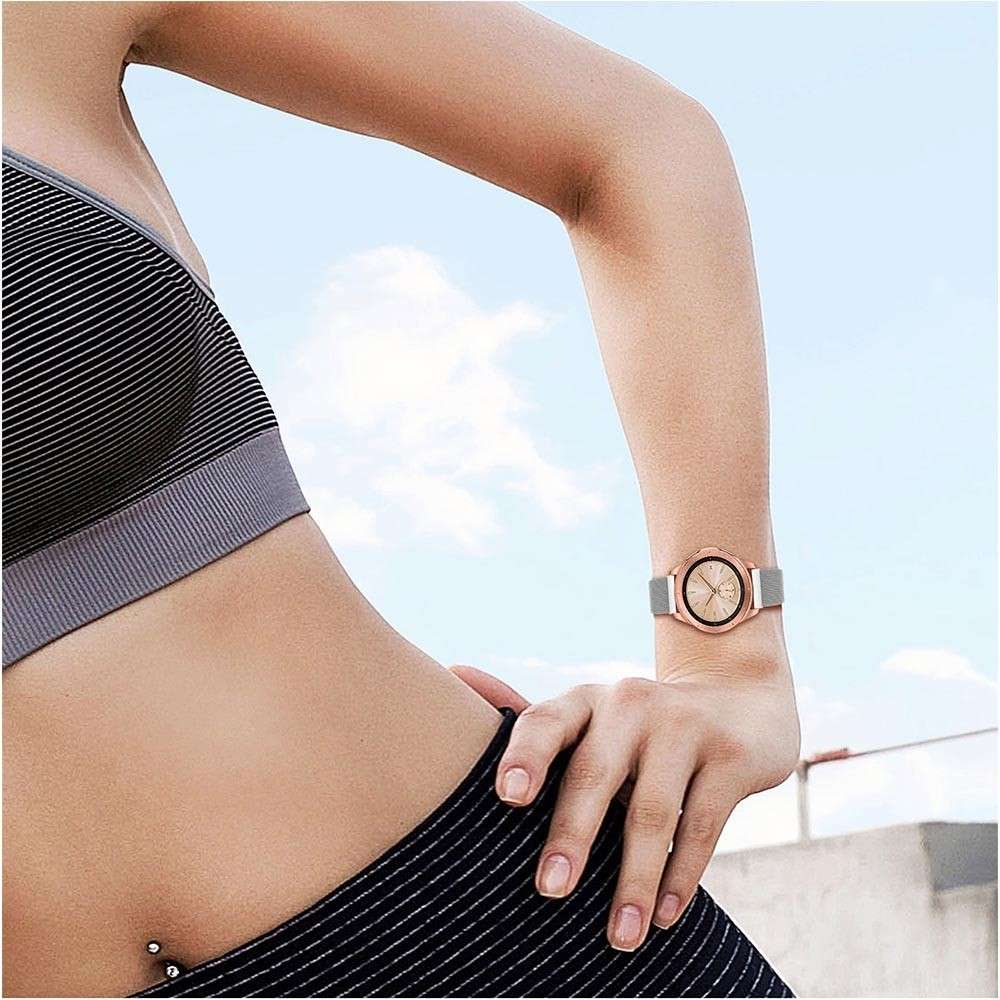 Just in Case Milanees armband voor Samsung Galaxy Watch 42mm - Silver