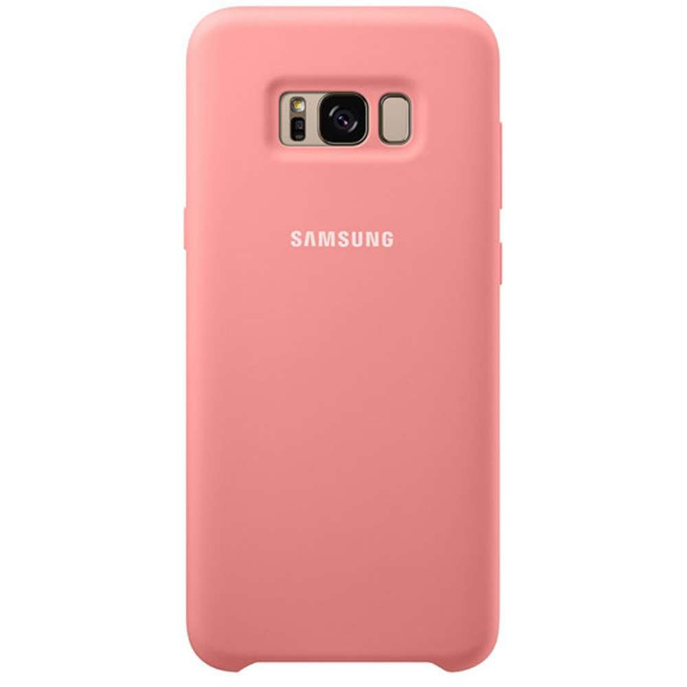 Couverture De Silicone Rose Original Pour Galaxie S8, Plus